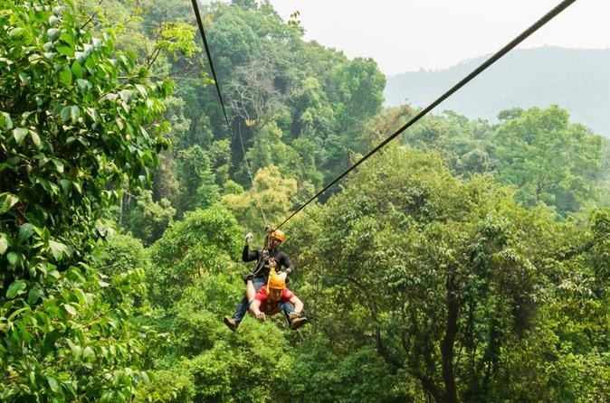 Zipline and Abseiling Adventure from Chiang Mai