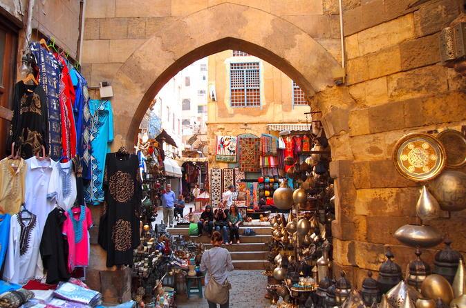 Islamic Cairo Al Muizz Street Al Azhar Mosque and Khan El Khalili Bazaar from Giza