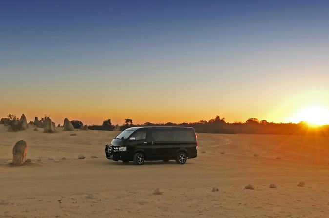 Pinnacles at Sunset - Authentic WA full-day tour in Perth's most stylish minibus