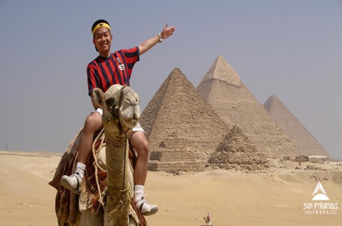 Giza Pyramids by Camel