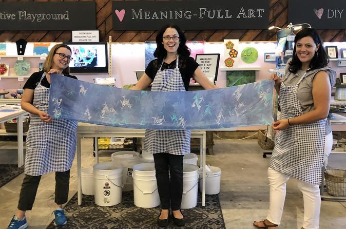 Water Marbling Silk Art Experience