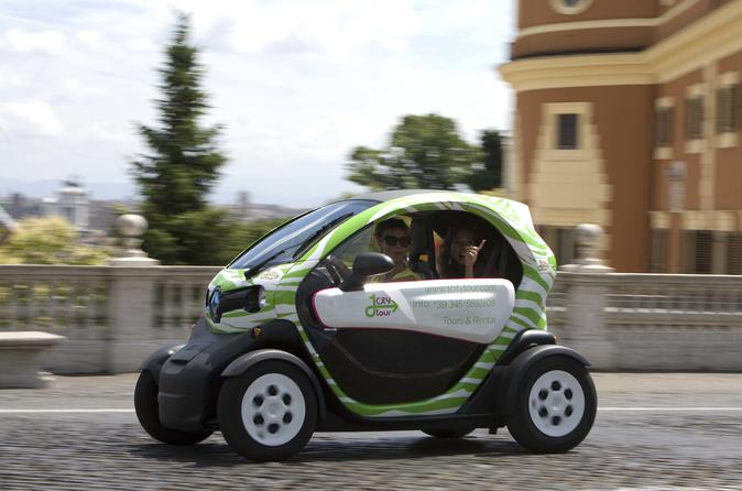 Rental for Electric Car Self-Guided Tour in Rome