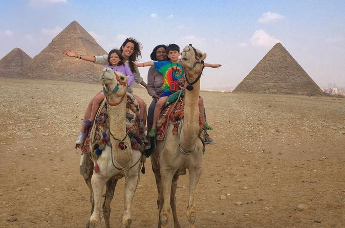 Private Day Trip to Egyptian Pyramids in Giza, Saqqara and Dahshur with Egyptian Barbecue Lunch and Camel Ride