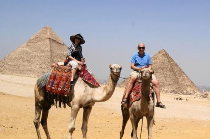 Private Guided Day Tour to the Giza Pyramids Alabaster Mosque and Khan El khaili Bazaar in Cairo