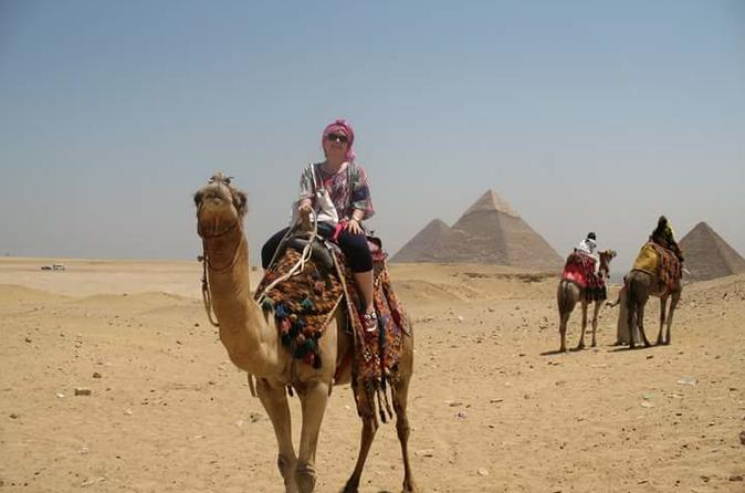 Private Shore Excursion: Giza Pyramids and Sakkara with Lunch in the Desert from Alexandria Egypt, Africa
