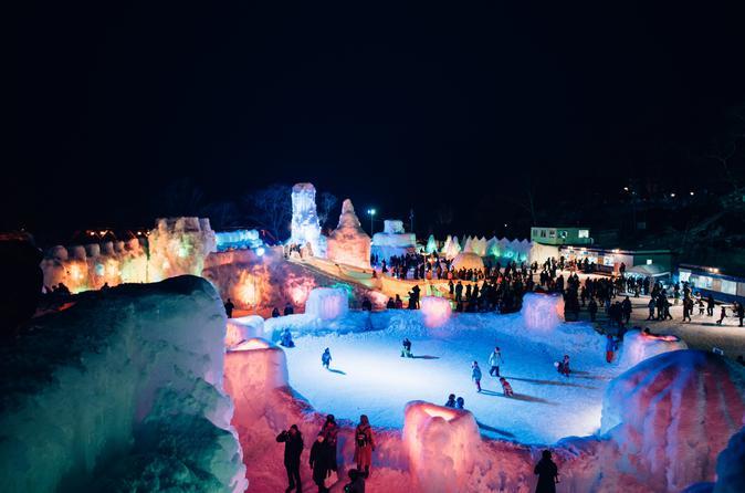 Explore Lake Shikotsu Ice Festival (night tour)