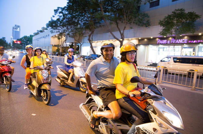 Night Saigon Street Food Tour of Ho Chi Minh City by Bike in Vietnam Asia