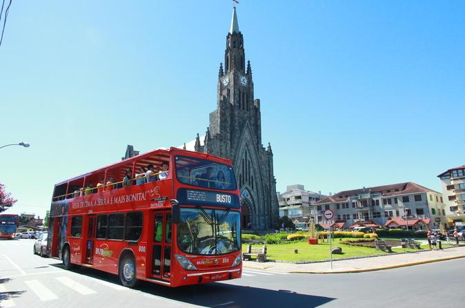 Excursão em ônibus panorâmico para Gramado e Canela