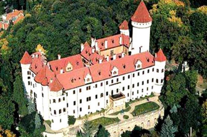 Konopiste Chateau and Nový Knín and Karlstejn Castle Private Tour from Prague
