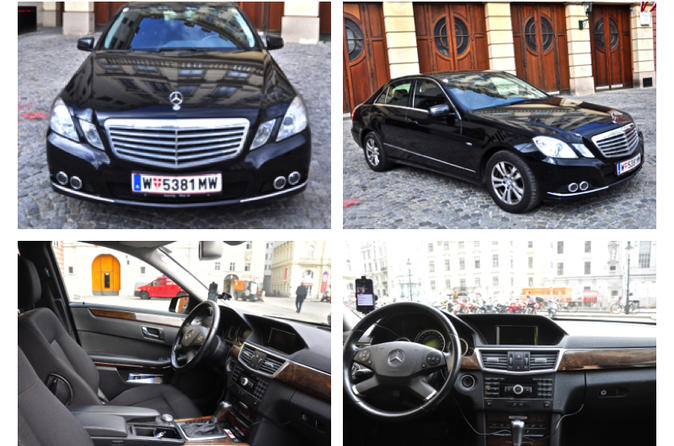 Private Luxury Transfers by a Mercedes E-Class From Vienna