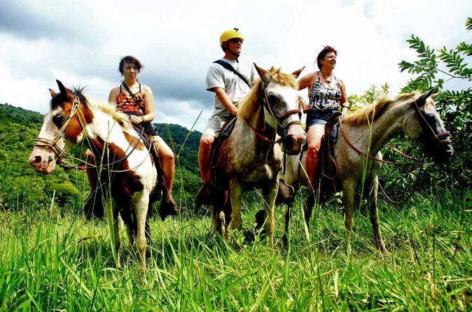 Jaco horseback zipline and rappel combo tour in jaco 219978