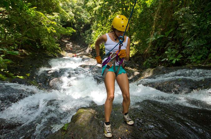 Rappel el encanto waterfall in jaco in jaco 225786