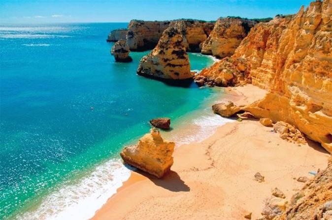 Excursão em um conversível ou moto por Algarve de meio dia desde Portimão