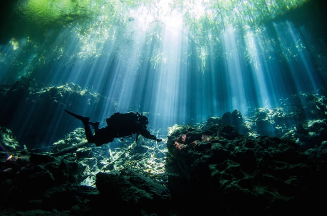 Silver Diving Package: 5 Days and 10 Cavern and Cenote Dives