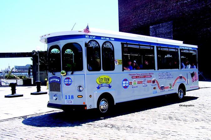 Excursão de bonde com várias paradas em Boston com Cruzeiro de portos opcional
