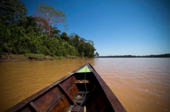 Excursão de 3 dias na Amazônia saindo de Puerto Maldonado com acomodação Eco Lodge