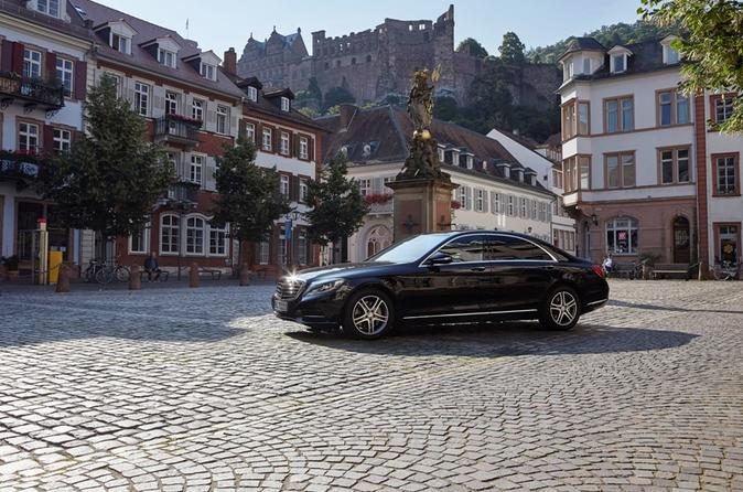 Trial run with Mercedes S-Class in Heidelberg
