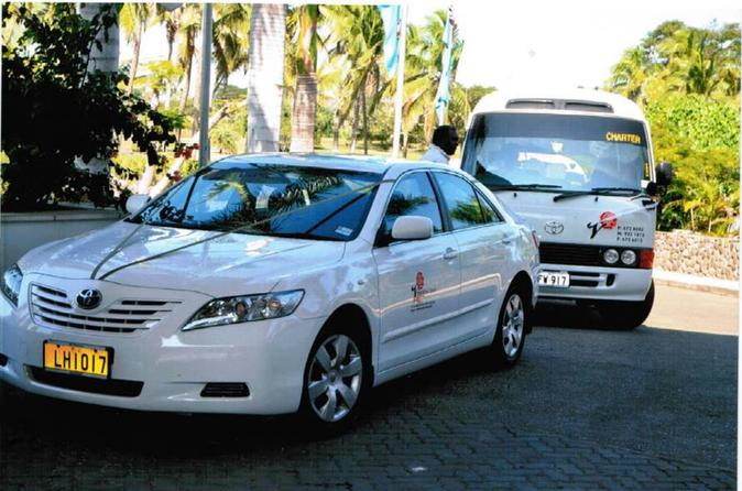 Private Arrival Transfer: Nadi Airport to DoubleTree Sonaisali And All Coral Coast Resorts