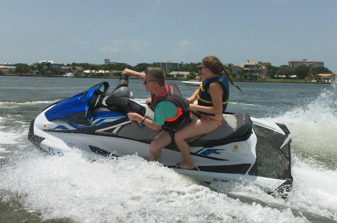 Jet Ski Tour of Honeymoon and Caladesi Island