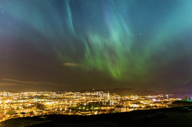 Sleeping under the Nordic Night Sky from Trondheim