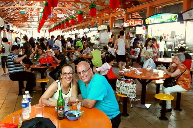 Singapore Hawker Center Food Tour and Neighborhood Walk with Hotel Transfer