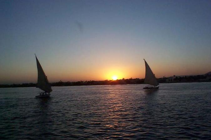 Felucca Ride on the Nile River in Luxor at Sunset