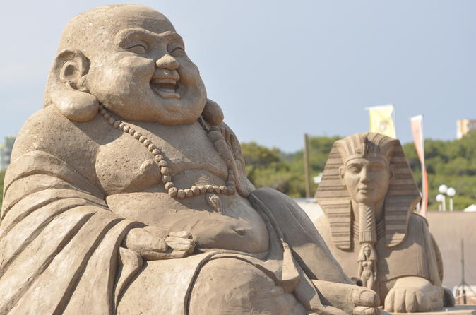 Entrance to antalya sand sculpture event in antalya 243626