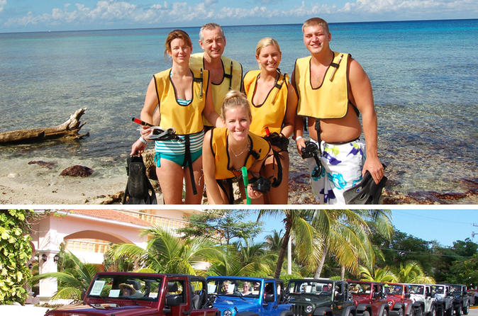 Jeep Tour in Cozumel with Snorkel at Punta Sur and Beach Break