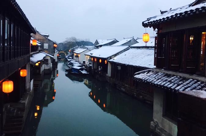 1 Day Classic Tour: Suzhou Ancient Garden & ZhouZhuang Water Village with Lunch