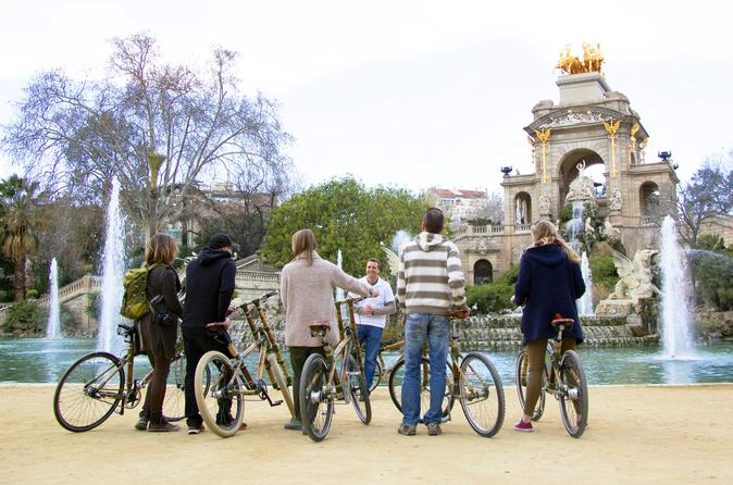 Barcelona Private 3-Hour Bamboo Bicycle Tour in Barcelona in Spain Europe