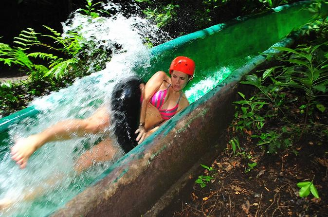 Canopy water slide hot spring mud bath and horseback riding full day in playa hermosa 240811