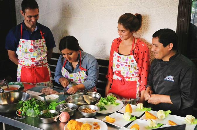 Private Peruvian Cooking Class and Local Market and Exotic Fruit Tasting