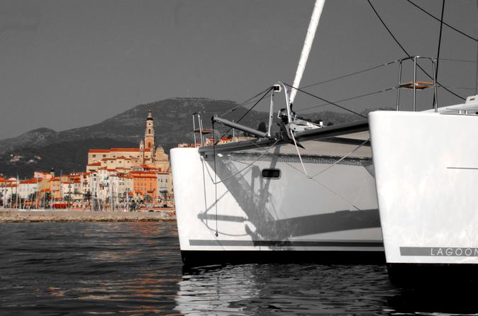 Rental catamaran boat with captain from menton in menton 203317