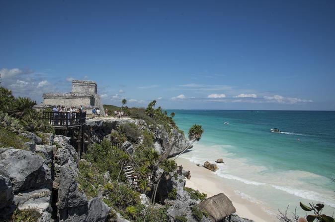 Viagem diurna para as Ruínas de Tulum e mergulho com snorkel no recife de corais em Cancun ou na Playa del Carmen