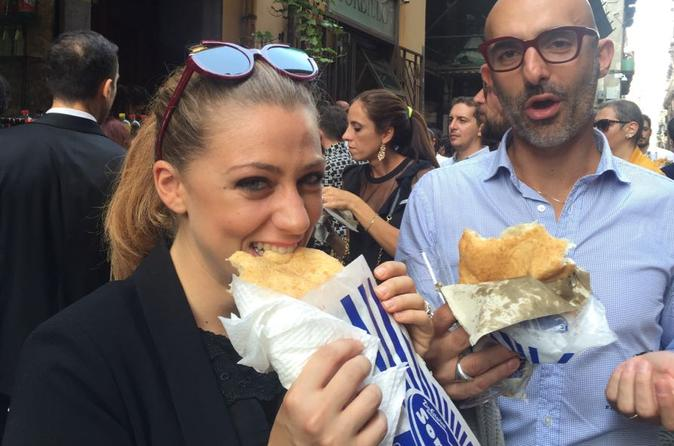 Naples street food walking tour in english or italian