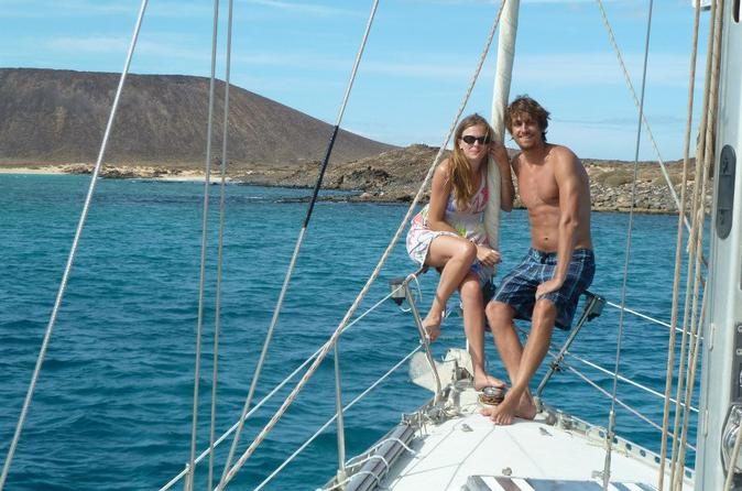 Private sunset sailing charter for couples from corralejo in corralejo 207250