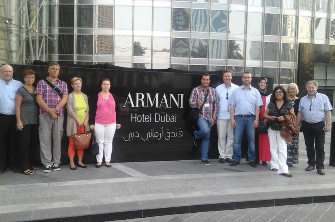 Dubai Full-Day Tour with Dinner at Armani Hotel and Burj Khalifa Entrance ticket