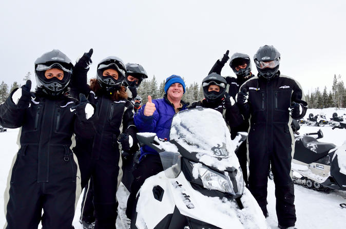 Yellowstone Old Faithful Full-Day Snowmobile Tour from Jackson Hole