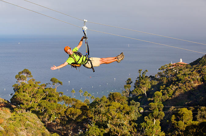 Catalina island zip line eco tour in avalon 242749