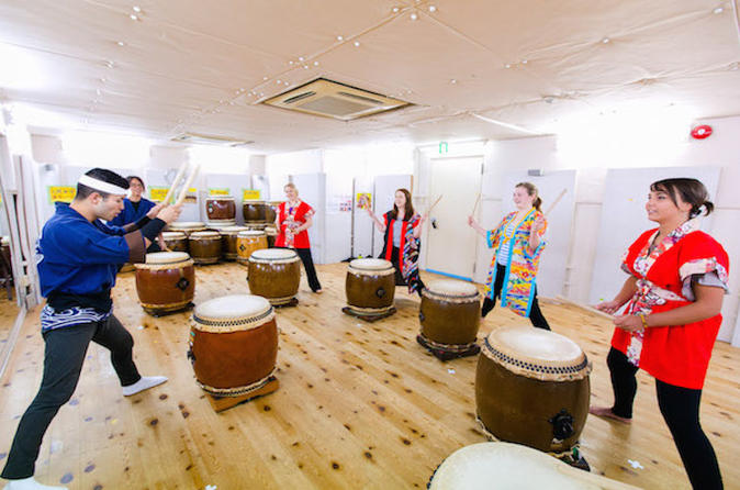 Japanese traditional taiko drum experience in osaka in osaka 354615