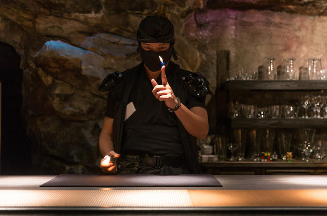 NINJUTSU Watch Experience in NINJA Bar in Shinjuku