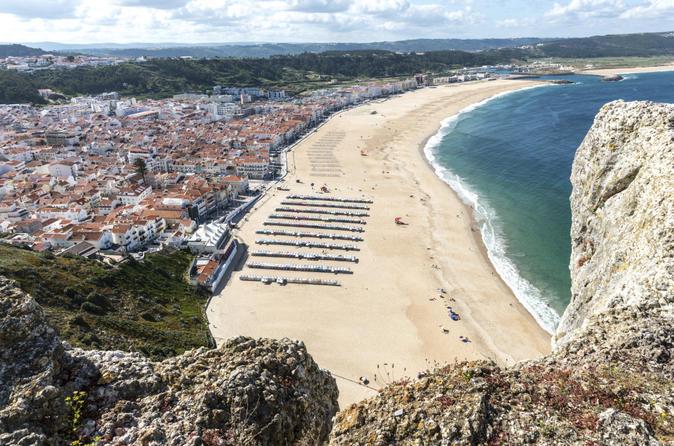 Portugal Full-Day Tour: Peniche, Nazare, Sao Martinho Obidos and Caldas da Rainha