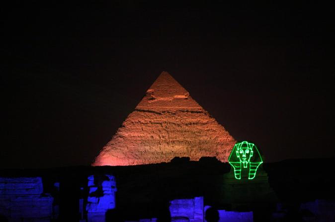 Giza Pyramids Evening Sound and Light Show from Cairo