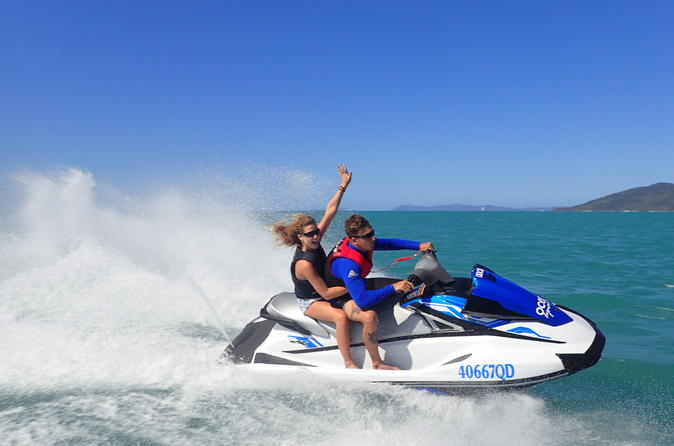 Single or twin jet ski tour to south molle island from airlie beach in airlie beach 330766