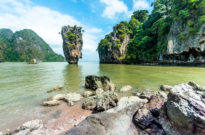 Tagestour durch die Bucht von Phang Nga und Kanufahrt neben dem Schnellboot ab Phuket
