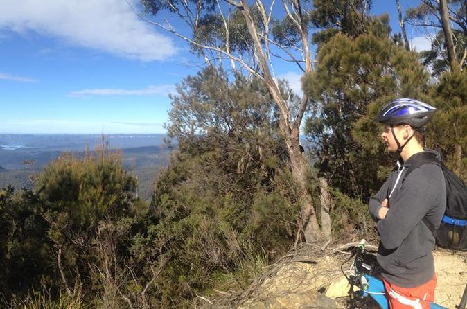Blue Mountains Self-Guided Mountain Biking: Oaks Fire Trail from Woodford to Glenbrook