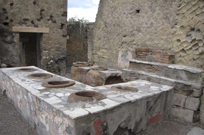 Transfer from Naples to Sorrento with stop at Herculaneum