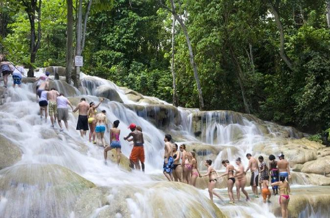 Dunn's River Falls & Jungle River Tubing Adventure Tour from Montego Bay