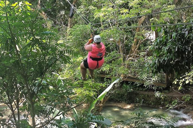 Falls Flyer Zipline and Dunn's River Falls Adventure Tour from Montego Bay