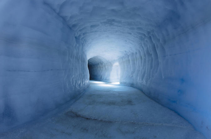 Into the glacier Ice cave, Krauma spa & Northern light hunt or midnight sun